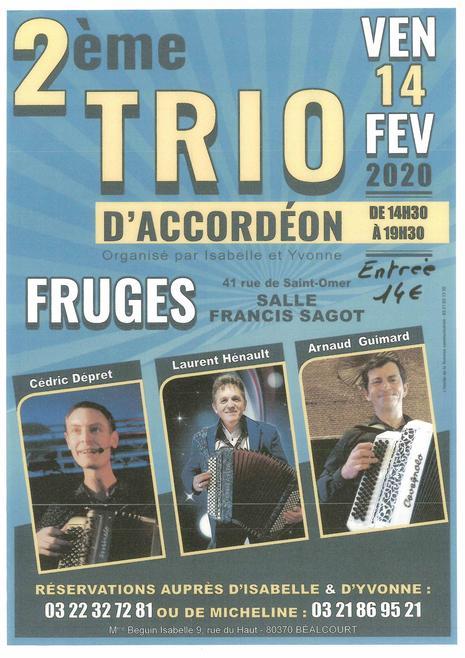 2ème Trio d'Accordéon - Ven 14 février 2019